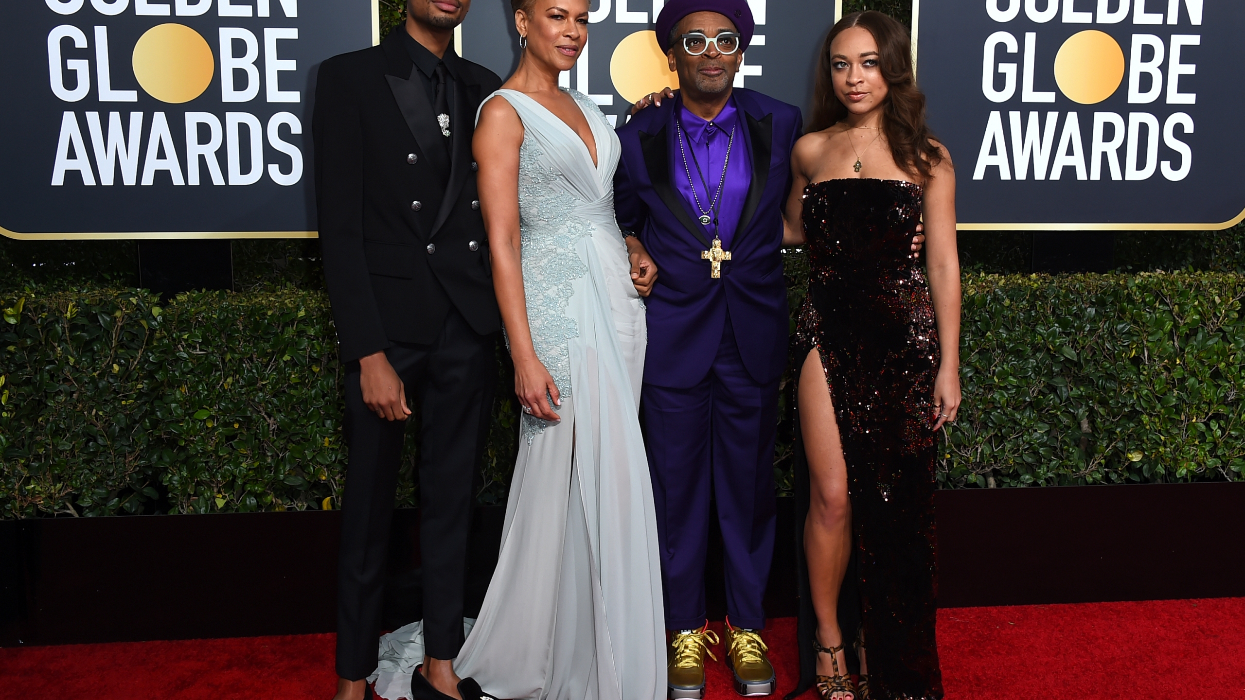 Spike Lee, Tonya Lewis Lee, Jackson Lee, Satchel Lee