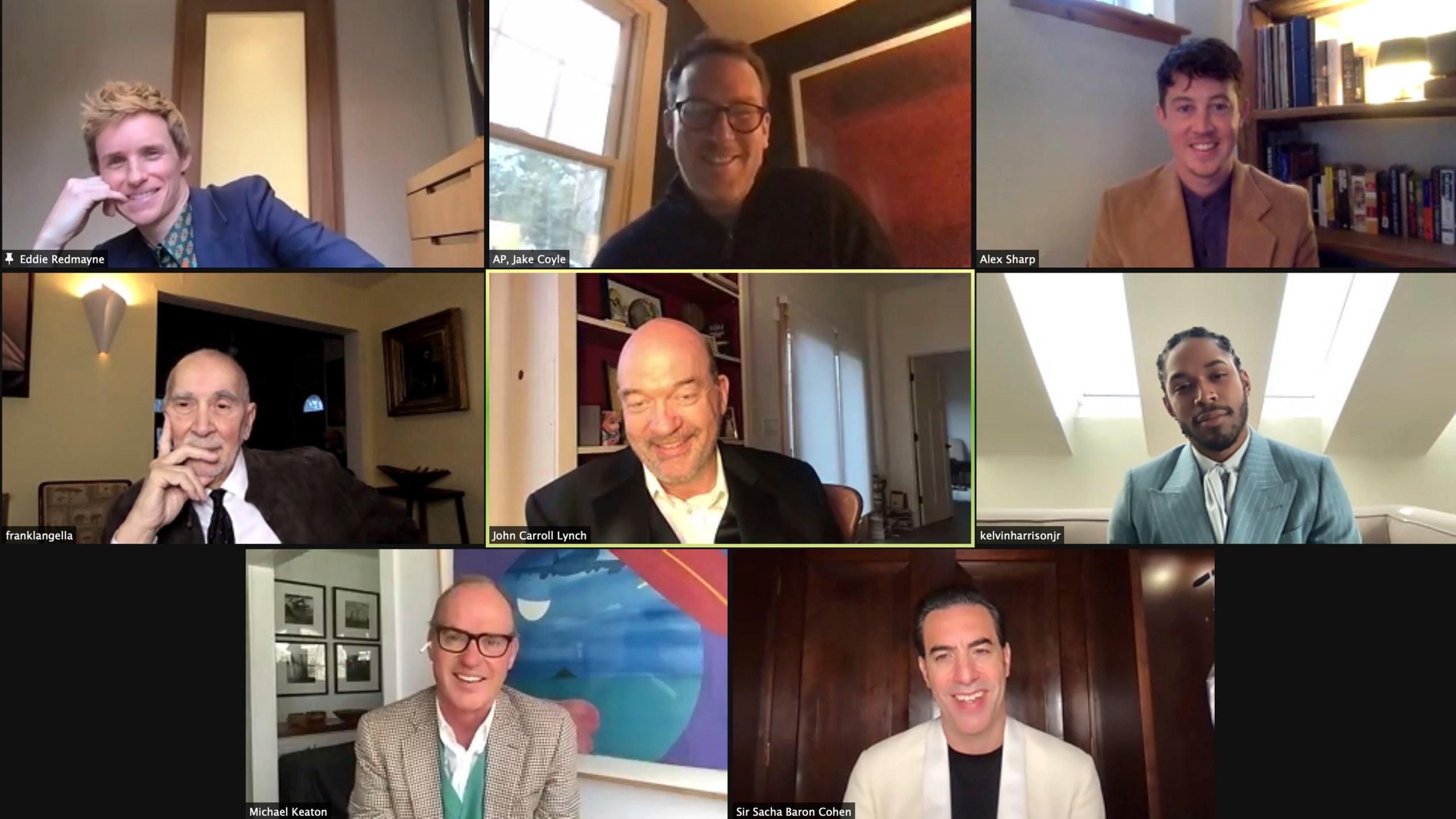 Eddie Redmayne, Alex Sharp, Frank Langella, John Carroll Lynch, Kelvin Harrison Jr., Michael Keaton, Sacha Baron Cohen