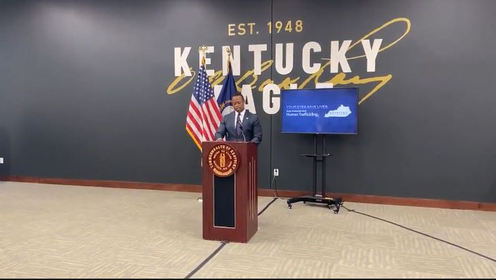Attorney General Daniel Cameron was in Lexington Thursday morning to announce a new partnership aimed at raising awareness of human trafficking.