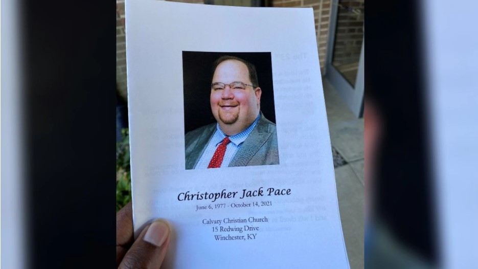 The funeral services for Clark County Judge-Executive Chris Pace were held Wednesday. Pace died last week due to complications from COVID-19.(WKYT)