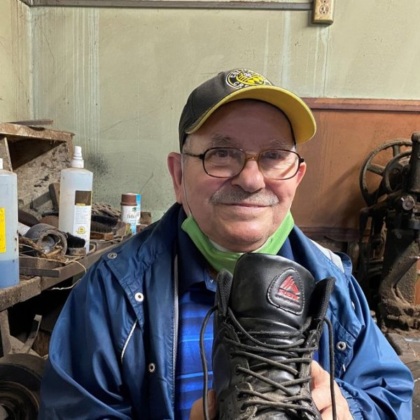 """This is the story of shoemaker Tony Likirdopulos, aka """"the cobbler."""""""