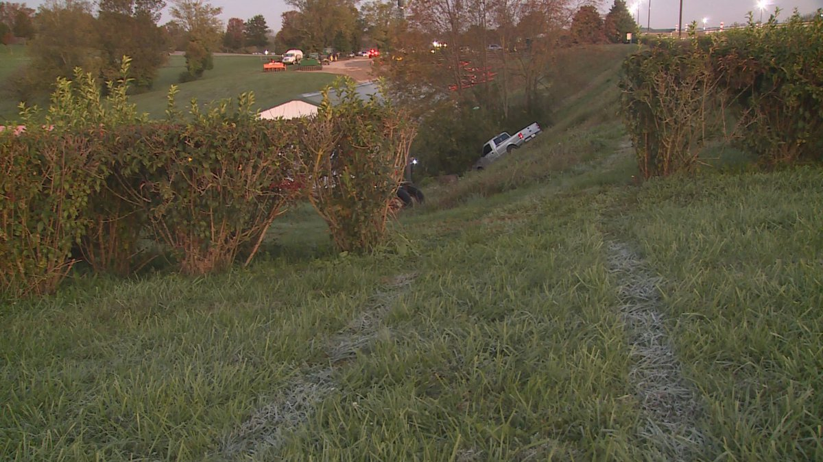 Officials say a driver crashed in an embankment right next to the main track. Police say that they were called out around 6:15 Wednesday morning by Keeneland employees for reports of a man underneath a truck.